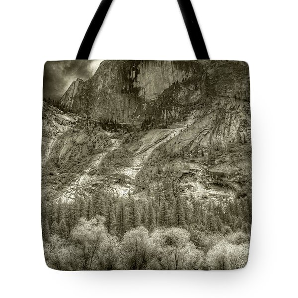 Half Dome Over Mirror Lake Tote Bag