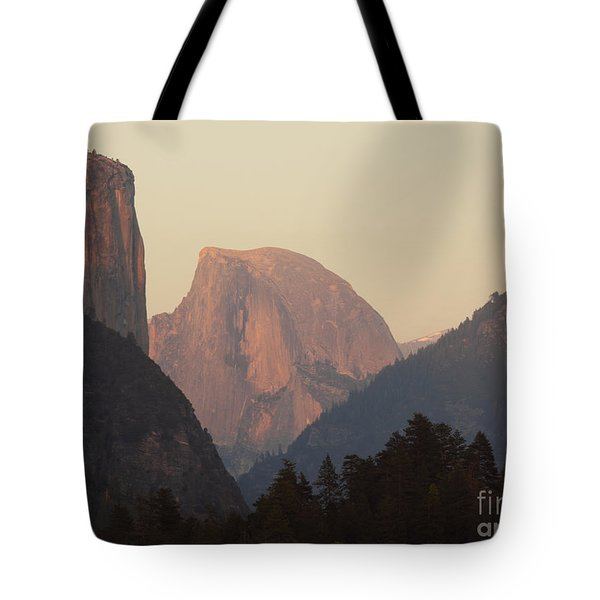 Tote Bag featuring the photograph Half Dome Rising In Distance by Max Allen