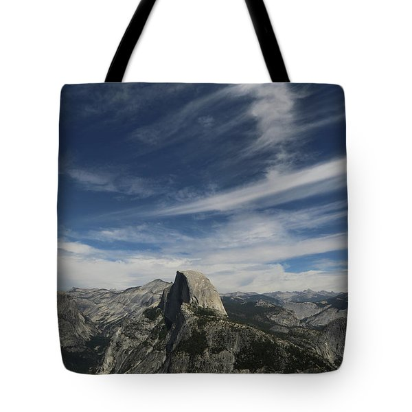 Tote Bag featuring the photograph Half Dome Sky by T A Davies