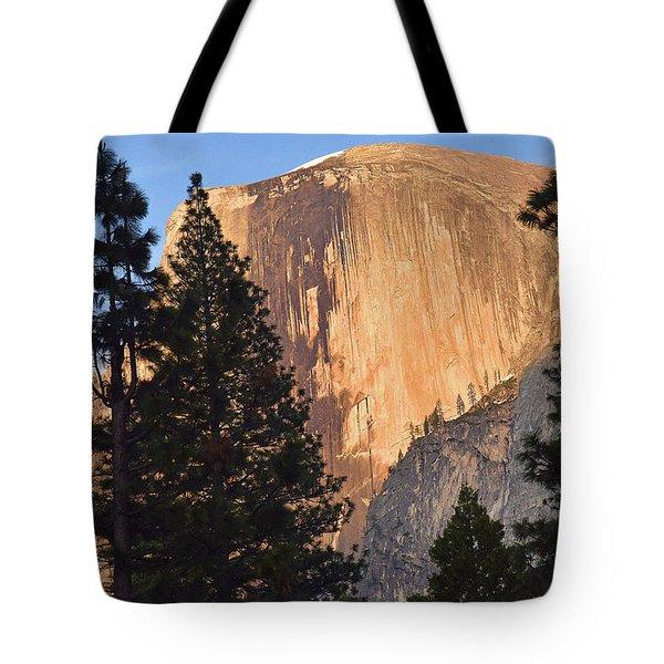 Half Dome Sunset Tote Bag