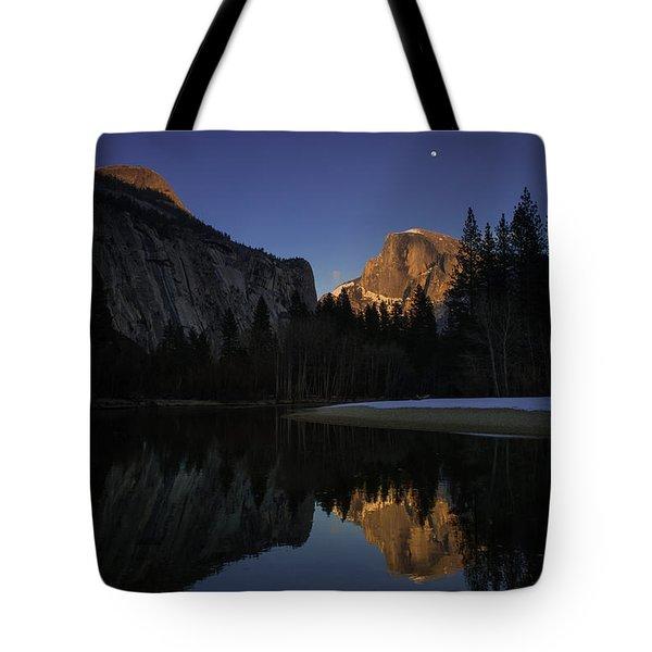 Half Dome, Twilight Tote Bag