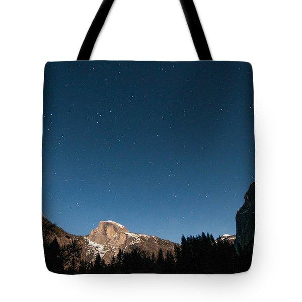 Half Dome Under The Stars Tote Bag