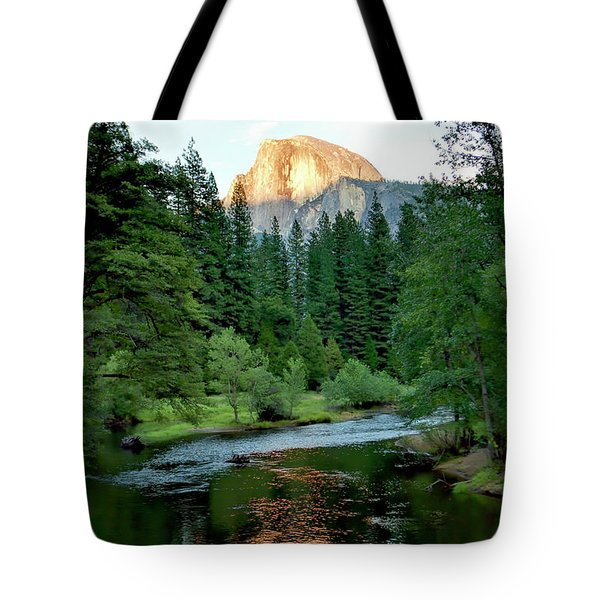 Half Dome Warmed By Setting Sun Tote Bag