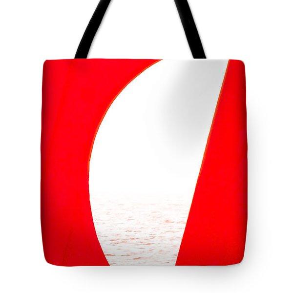 Half Moon Abstract Tote Bag