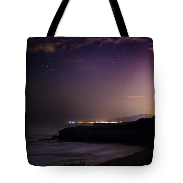 Tote Bag featuring the photograph Half Moon Bay Aglow by Geoffrey C Lewis