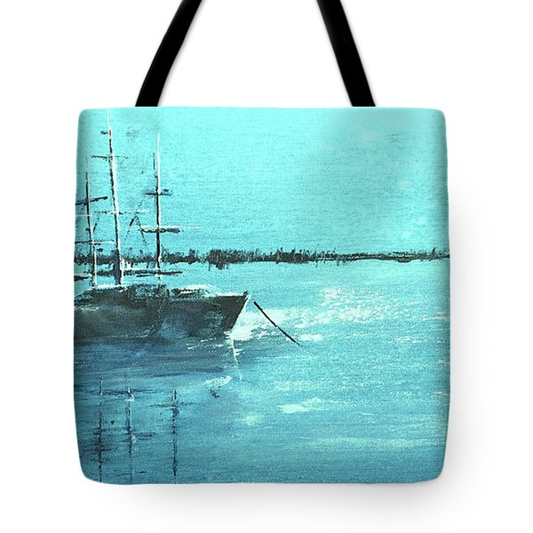 Half Moon Harbor Tote Bag