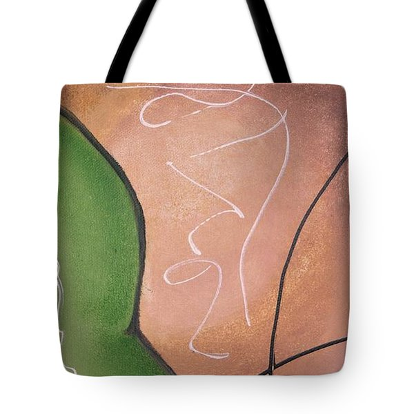 Half Pear Still Life Abstract Art By Saribelleinspirationalart Tote Bag by Saribelle Rodriguez