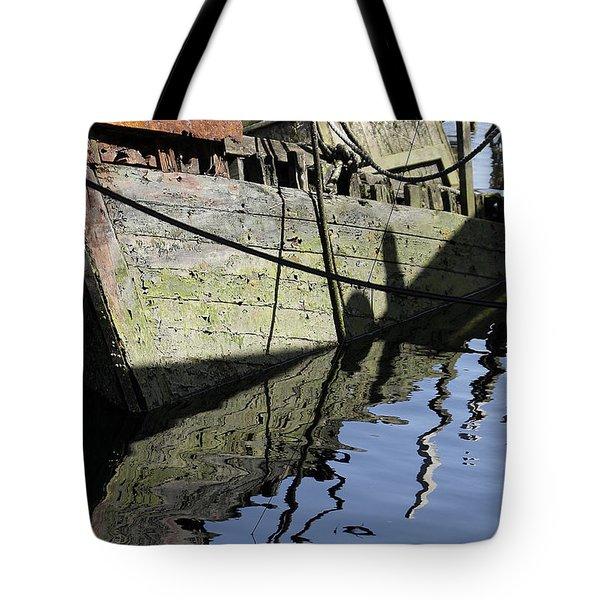 Half Sunk Boat Tote Bag