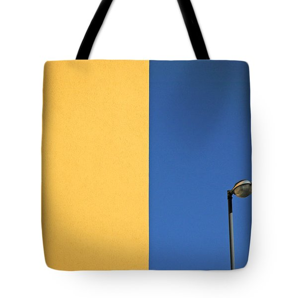 Half Yellow Half Blue Tote Bag