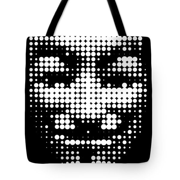 Halftone Anonymous Face  Tote Bag