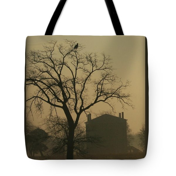 Halfway House And Eagle Tote Bag