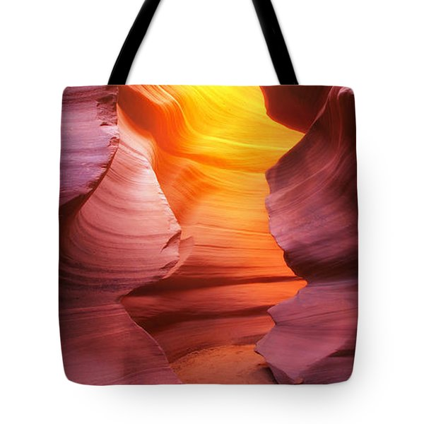 Tote Bag featuring the photograph Hall Of Fire by Kadek Susanto