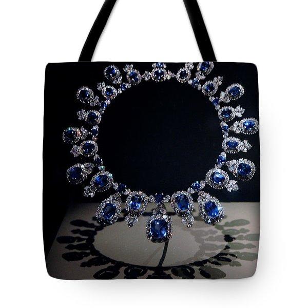 Hall Sapphire And Diamond Necklace Tote Bag by LeeAnn McLaneGoetz McLaneGoetzStudioLLCcom