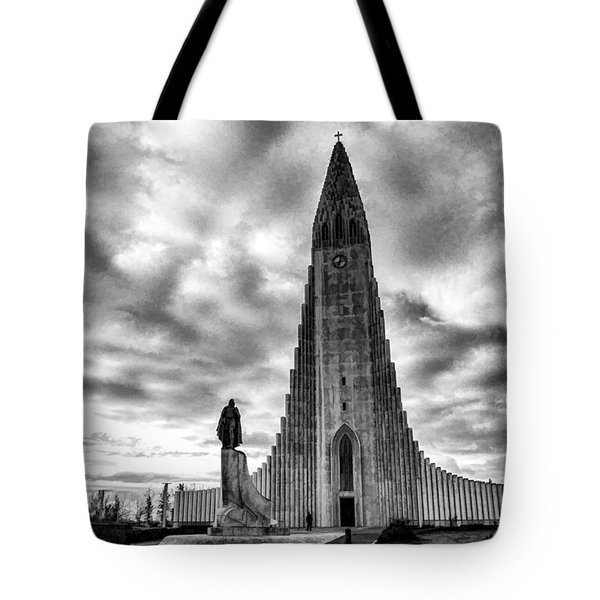 Tote Bag featuring the photograph Hallgrims Kirkja Iceland by Rick Bragan