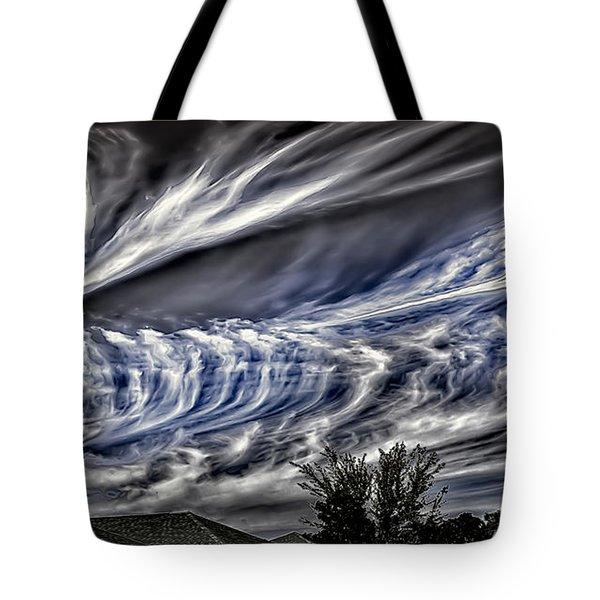 Halloween Clouds Tote Bag