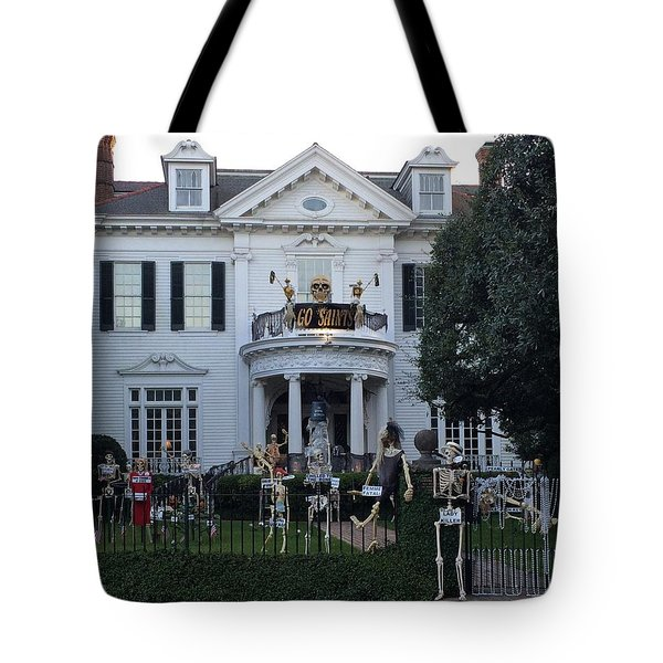 Halloween Decor New Orleans Style Tote Bag