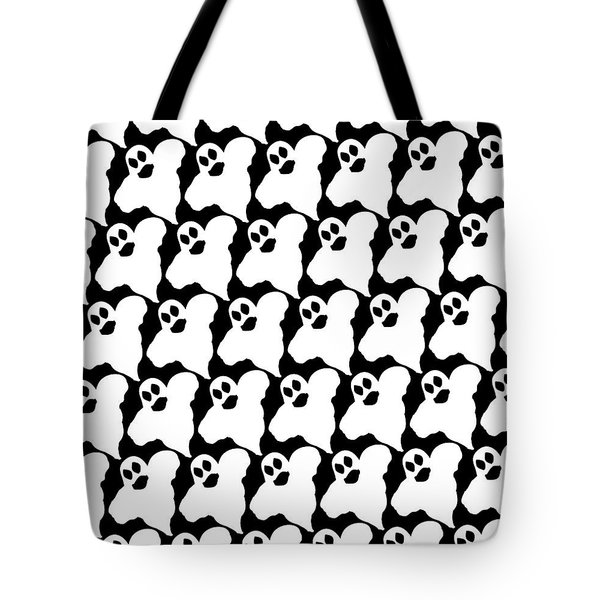 Tote Bag featuring the digital art Halloween Ghosts by Becky Herrera