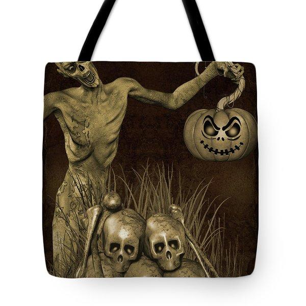 Halloween Graveyard-b Tote Bag