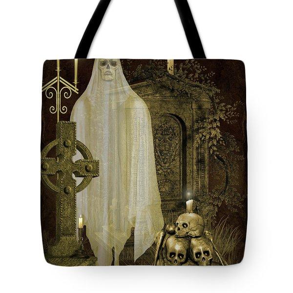 Halloween Graveyard-f Tote Bag