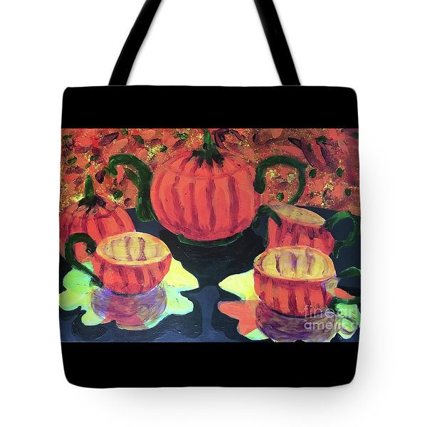 Tote Bag featuring the painting Halloween Holidays by Donald J Ryker III