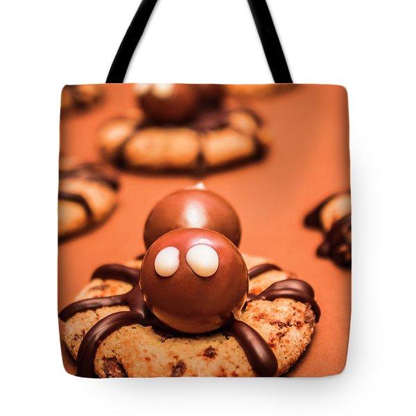 Halloween Homemade Cookie Spiders Tote Bag