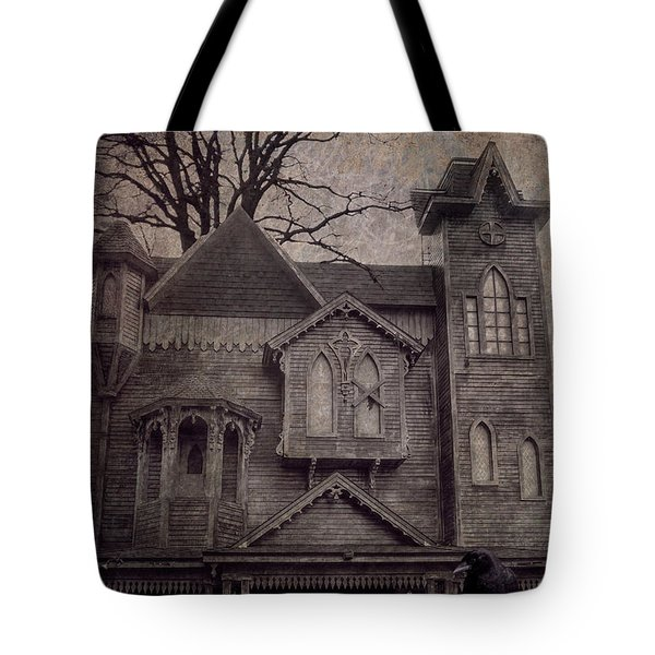 Halloween In Old Town Tote Bag