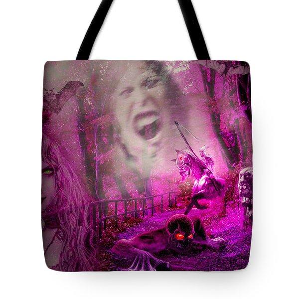 Halloween Landscape Tote Bag