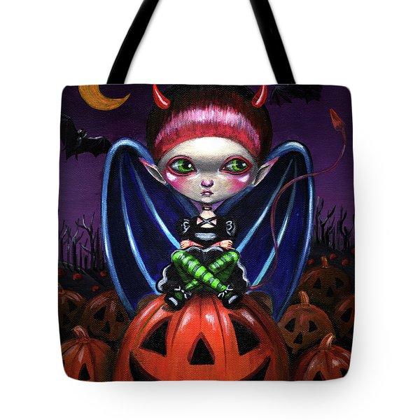 Halloween Little Devil Tote Bag