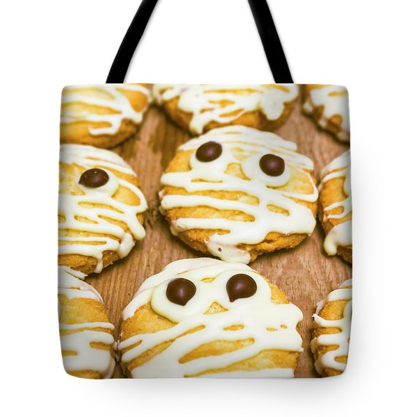 Halloween Little Monster Biscuits Tote Bag