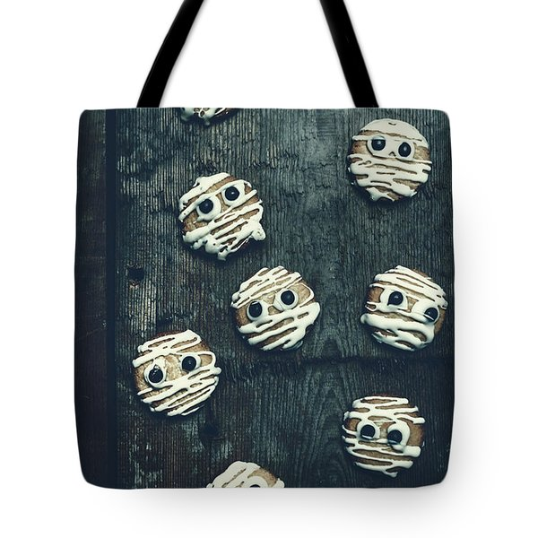 Halloween Mummy Cookies Tote Bag