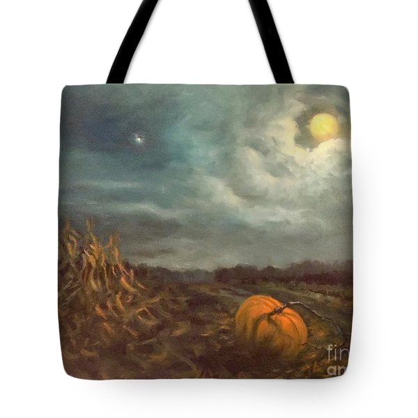 Halloween Mystery Under A Star And The Moon Tote Bag