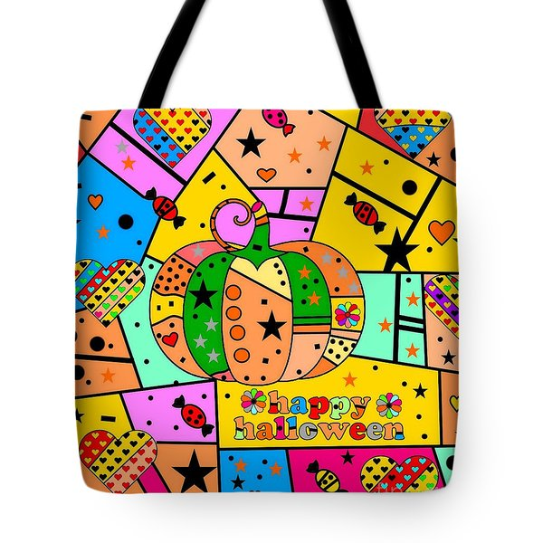 Halloween Popart By Nico Bielow Tote Bag by Nico Bielow