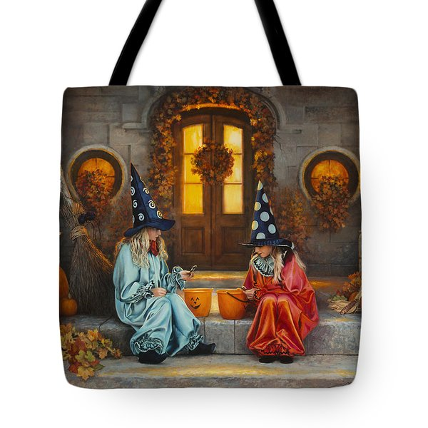 Tote Bag featuring the painting Halloween Sweetness by Greg Olsen