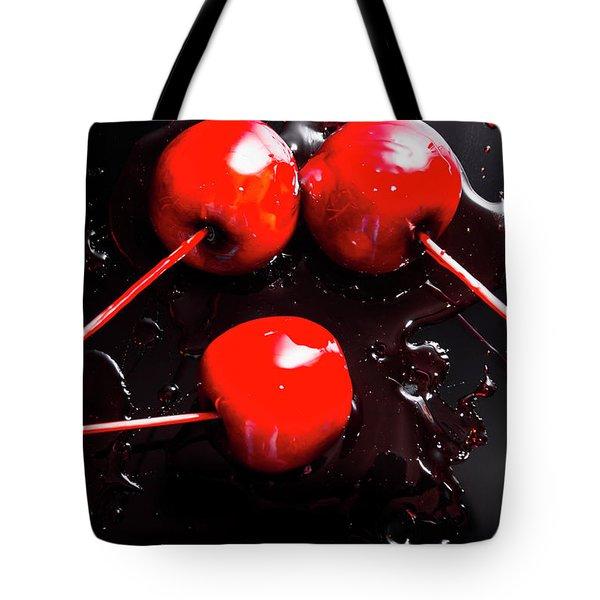 Halloween Toffee Apples Tote Bag