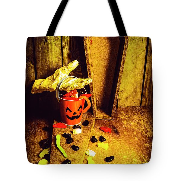 Halloween Trick Of Treats Background Tote Bag