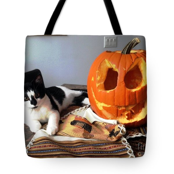 Tote Bag featuring the photograph Halloween by Vicky Tarcau