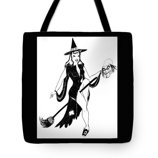 Halloween Witch  Tote Bag by Beverly Solomon Design