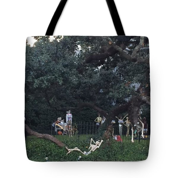 Halloween Yard Party Tote Bag