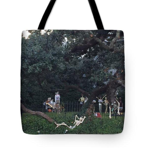 Halloween Yard Party Tote Bag