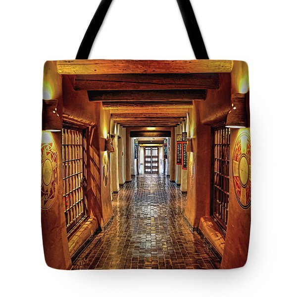 Tote Bag featuring the photograph Halls Of Loretto by Gina Savage