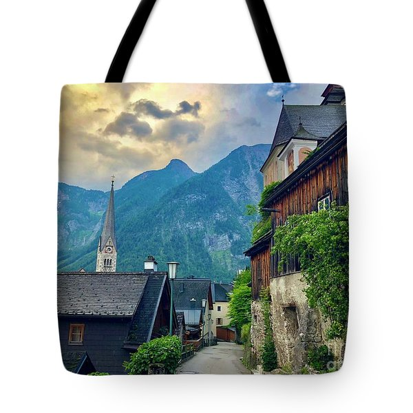 Hallstatt Village Stroll Tote Bag