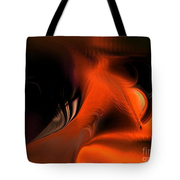 Tote Bag featuring the digital art Hallucinogenic Element by Yul Olaivar