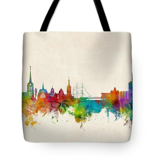 Halmstad Sweden Skyline Tote Bag
