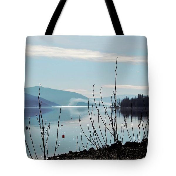 Tote Bag featuring the photograph Halo On Copper Island by Victor K