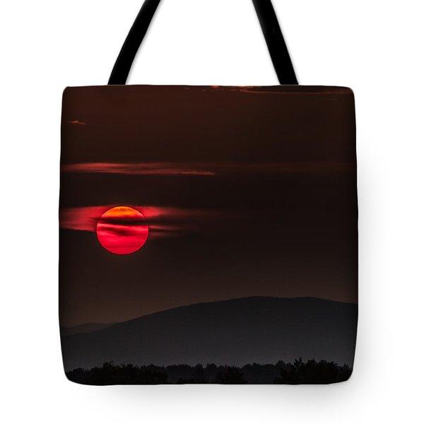 Haloed Sunset Tote Bag