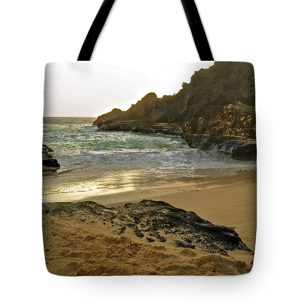 Halona Beach Cove Tote Bag by Michael Peychich