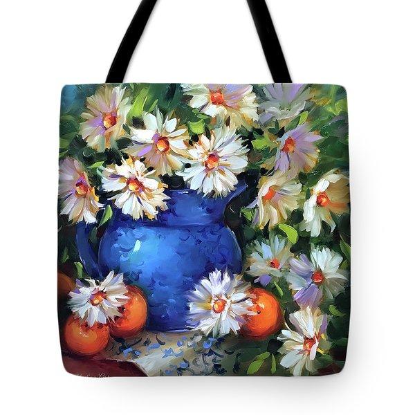 Halos And Daisies Tote Bag