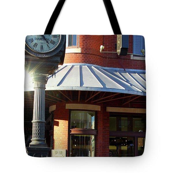 Haltoms Diamonds Clock Tote Bag