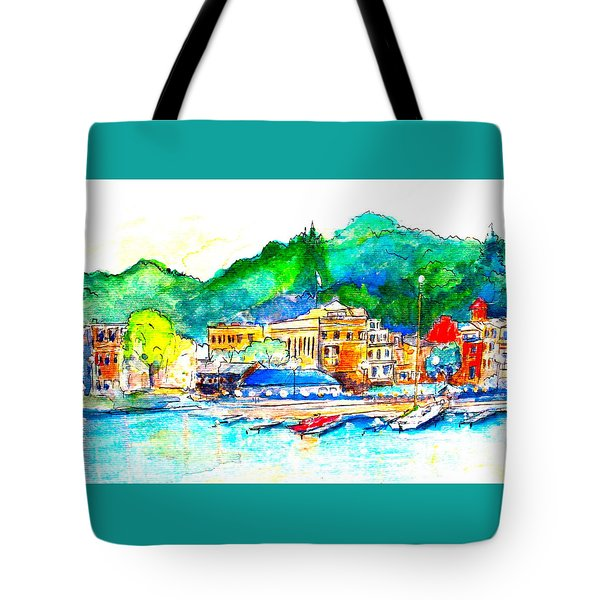 Halycon Days At The Blue Water Tote Bag
