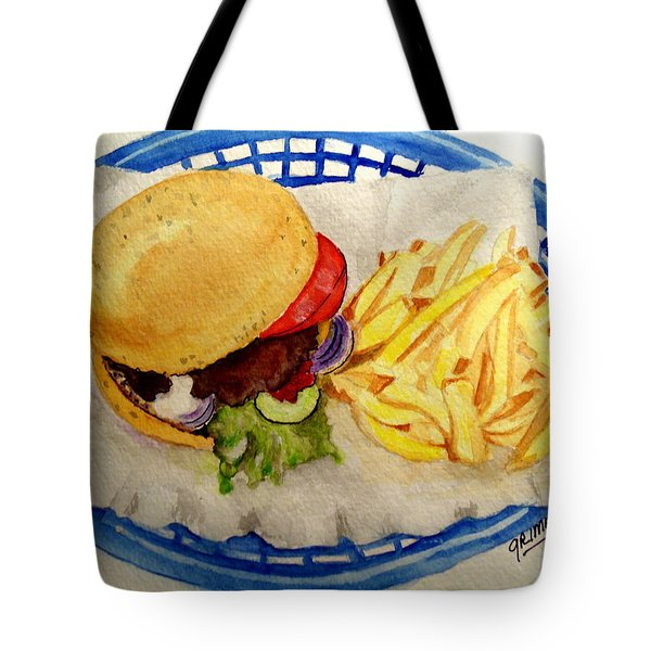 Hamburger Basket #2 Tote Bag